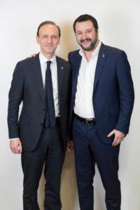 Guglielmo Picchi con Matteo Salvini
